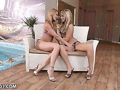 Lesbian blonds