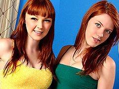 Let the Lesbian Ginger Strap-on Party Begin!