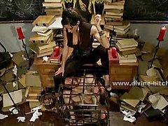 Old deserted library holds prisoner male sex slave for the pleasure of fetish mistress