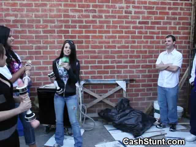 Handjob For Money - Amateur Girls Give Handjobs In Money Talks Alley Stunt
