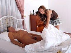 Horny chambermaid