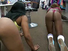 Caramel Asses Play With Doll