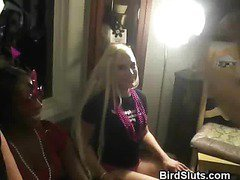 Horny Women Party In A Club And Take Turns With Stripper