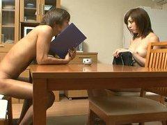 Nudist milf Japan saleswoman shyly goes door to door
