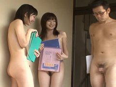 Japanese cougar nudist office ladies toy with boytoy