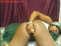 Hot Balck Girl Dildos Ass On Webcam