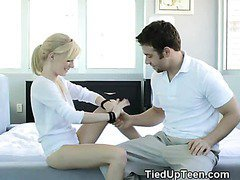Hot Blonde Girl Sucking Dick And Tied Up