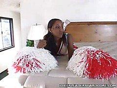 Ebony Cheerleader Jenny Balled