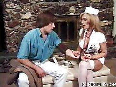 Blonde Nurse Boob Tease