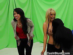 Amateur Girls Play Musical Chairs With Cock During Stunt