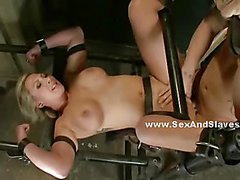Sex and submission is a game where sluts are tied and please the master as this busty blonde does