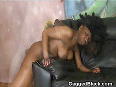 White Guy Hammer Fucking Frizzy Haired Black Chick