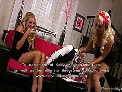 Blonde Barbie Doll Seduced By A Couple
