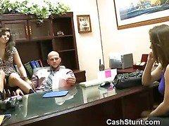 Amateur Girls Flash Their Titties In An Office