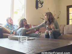 Teen Best Friends With Nice Bodies Suck Dick Together