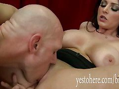 Busty Sophie Dee throated and gets a big dick in her ass