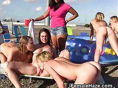 College Girls Eating Pussy At Outdoor Hazing Party