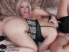 A Lovely Brunette Model Licking A Smooth Pussy