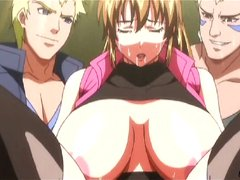 Huge boobs hentai double penetration and cumshot