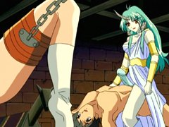 Shemale hentai hot riding a roped anime girl