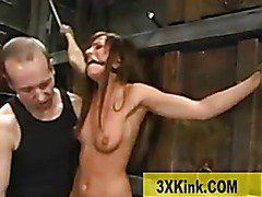 hot brunette tied and fucked