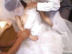 Morimoto Miku Young Bride gets fucked anal