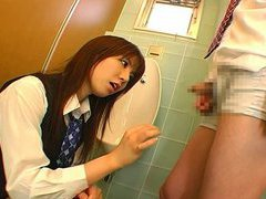 Coworker has cock teased by dominant Japan office lady