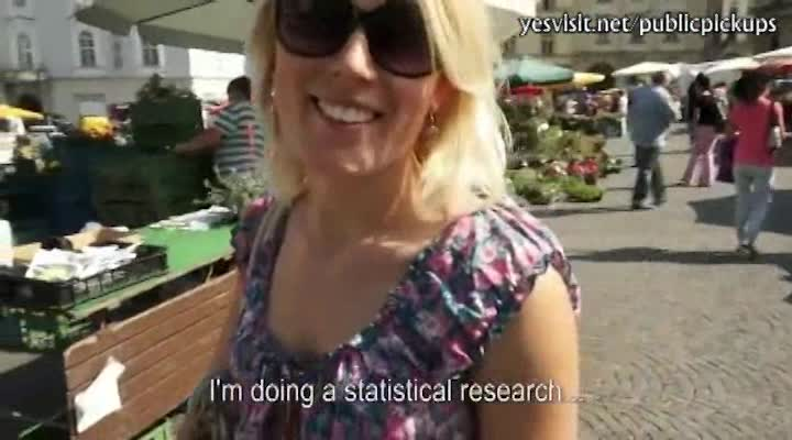 Blonde porn star masturbating