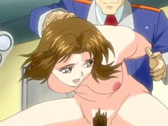Chained Hentai Redhead Gets Whipped And Gangbanged
