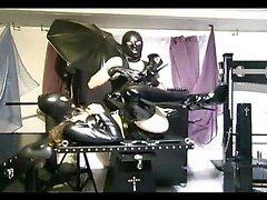 Hot slave girl gets her pussy tortured