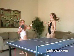 Cute lesbians strip for oral fun with legs spread wide for deep tongue licking