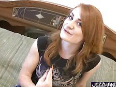 redhead blasted with jizz
