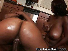 Big Booty Black Bitches Riding Cock In A Threesome