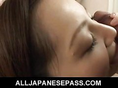Asian slut gets her hairy cunt licked and fucked