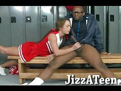 Naughty cheerleader asshole ripped with big black schlong