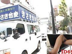 Japanese AV Model naked in public