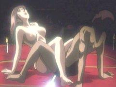Hentai girl riding a dick in the ritual sex