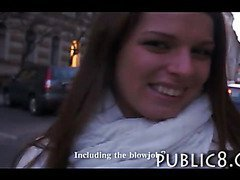 Innocent amateur paid money for sex in public