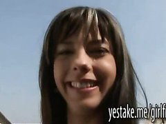 Lesbian girlfriends double toying while making a sextape