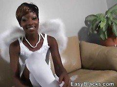 Angelic Black Amateur Ex Girlfriend Sucking Dick POV