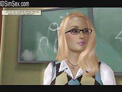 Ebony girl has detention