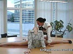 Flexible secretary tease