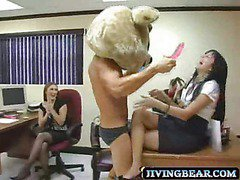 Real hot girl at office hire stripper