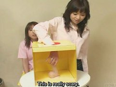 Weird Japanese sex toy mystery box game with subtitles
