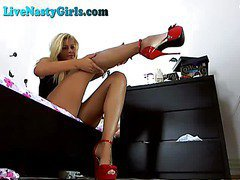 Hot Blonde Dildos To Orgasm On Webcam Part 3