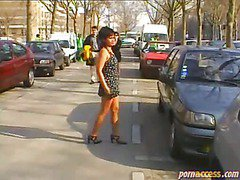 Naked on the streets of Paris