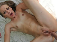 Hot blonde chick tries anal sex for the first time