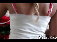 Tight frame blonde teen girlfriend first time anal fucking