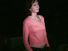Hot cute small teen girl public orgy gangbang thru car window Part 1
