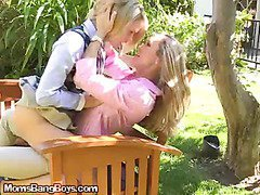 Slutty MILF Seduces Teen Girl